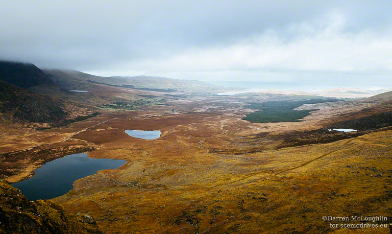 Glaciated valley below Conor Pass, Dingle