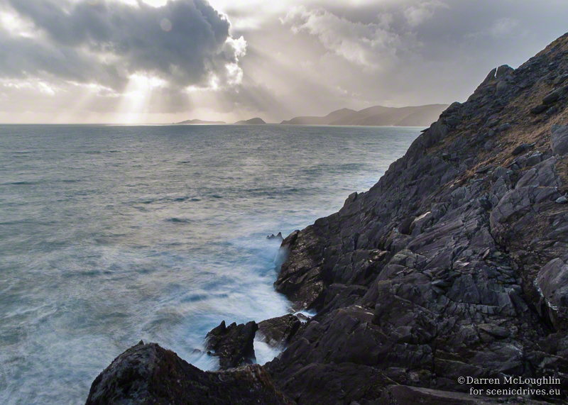 Slea Head View - rocks and sea and sky.