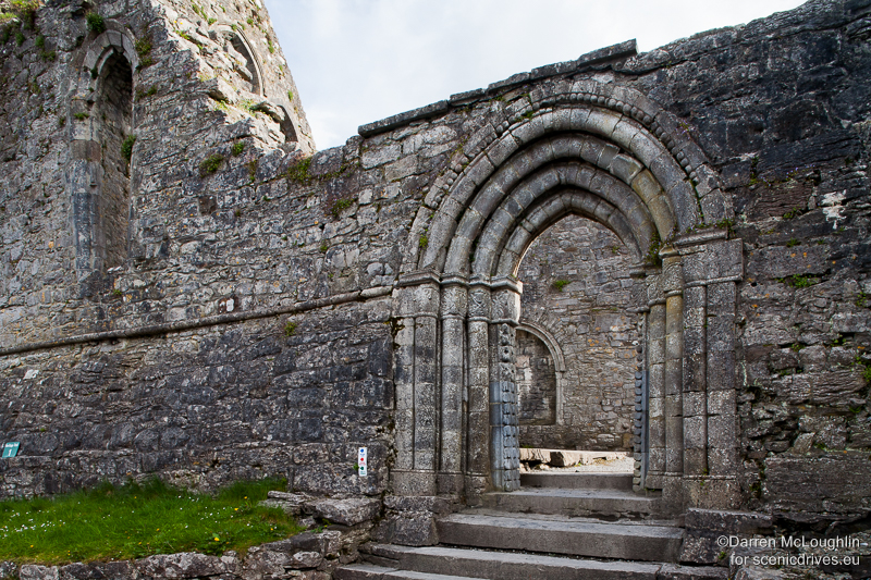13th Century doorway in Cong Abbey, Ireland