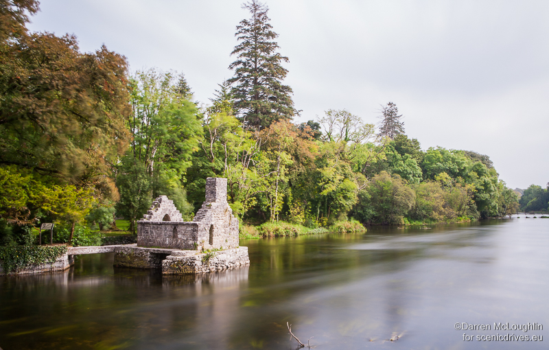 The stone built hut where monks fished through the floor in Cong, County Mayo, Ireland