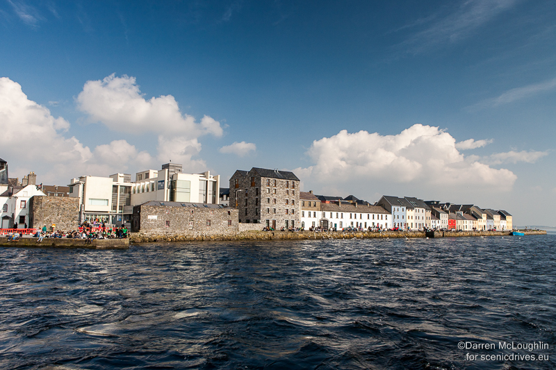 The short, powerful River Corrib flowing past Galway's Long Walk